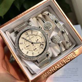 Authentic MK Watch Set