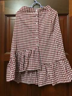 (Free Postage) Checkered Skirt