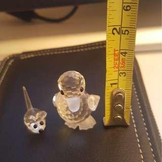 Swarovski baby carp (standing duck) + field mice (only 1) - 減價