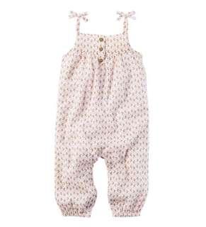 *24M* Brand new Carter's Crinkle Gauze Jumpsuit For Baby Girl