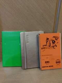(含運)全新2本筆記本和一本塗鴉本