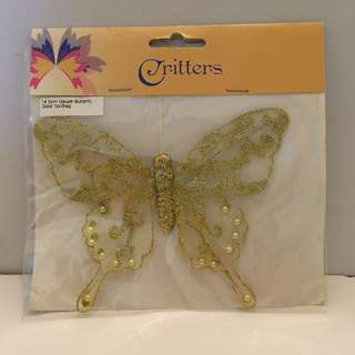 Craft Bits: Gold Glitter Butterfly Embellishment