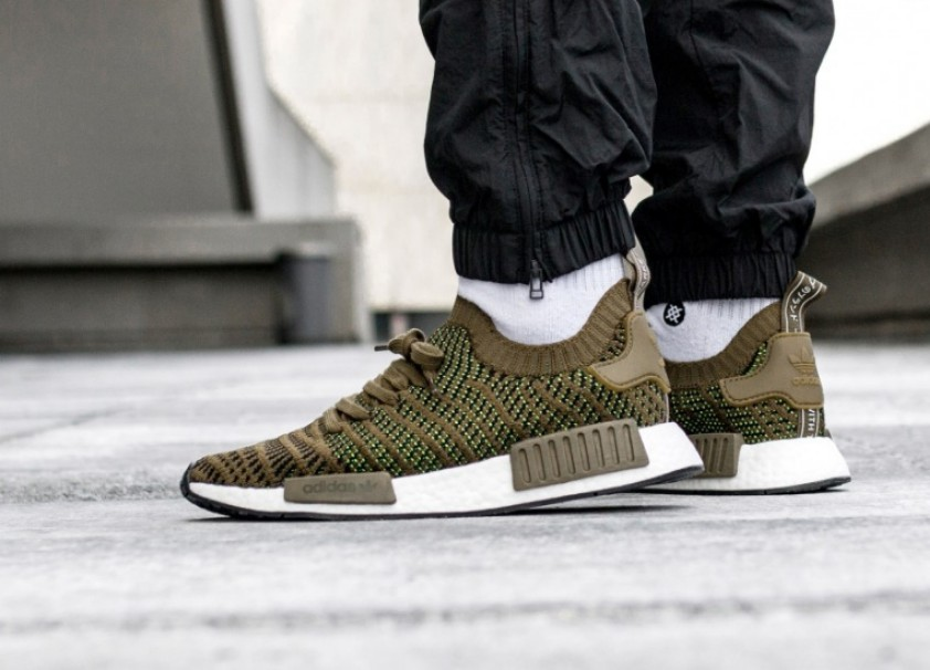 competitive price ed68b 89073 Adidas NMD R1 PK STLT - Trace Olive Green -, Men's Fashion ...