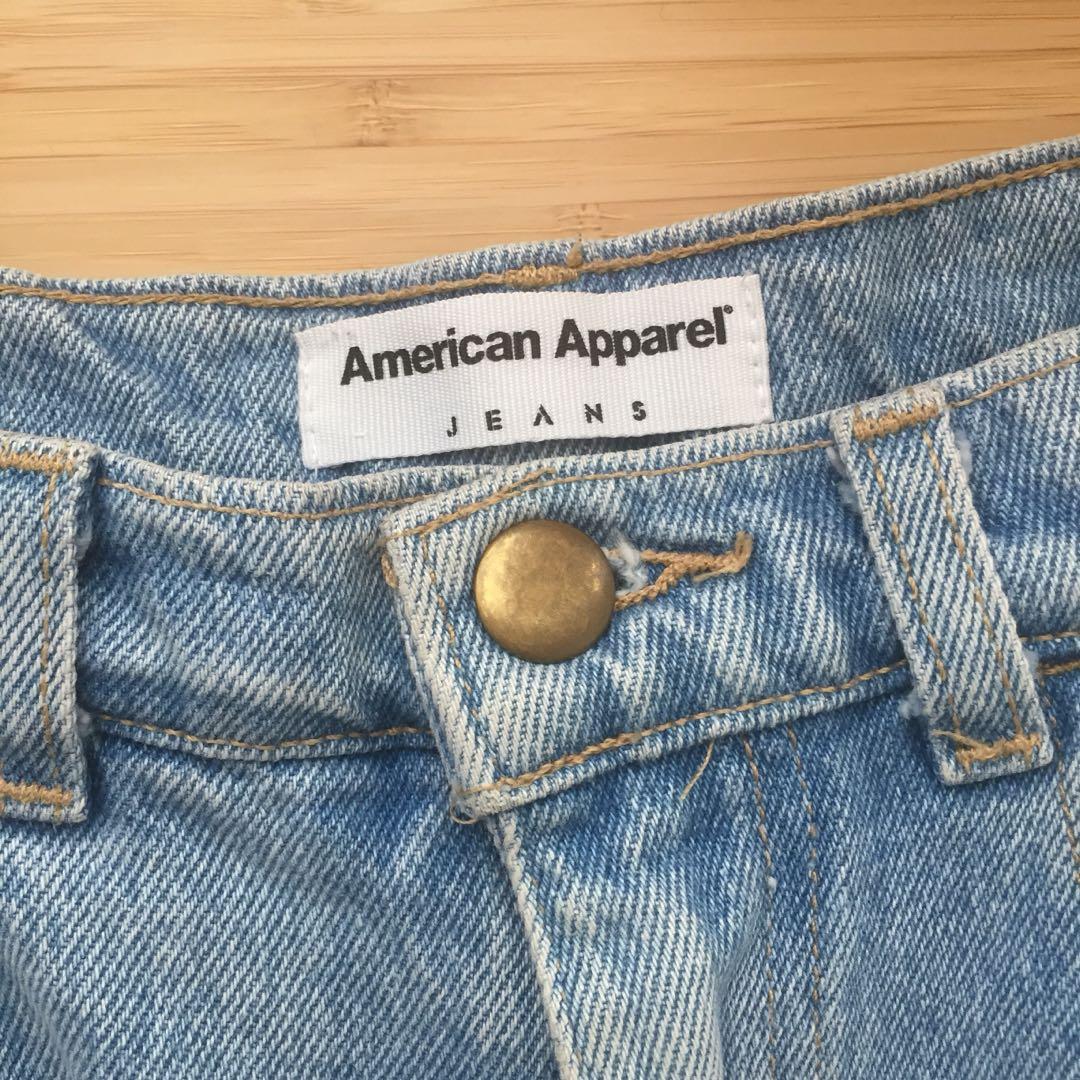 American Apparel Lightwash Denim Shorts