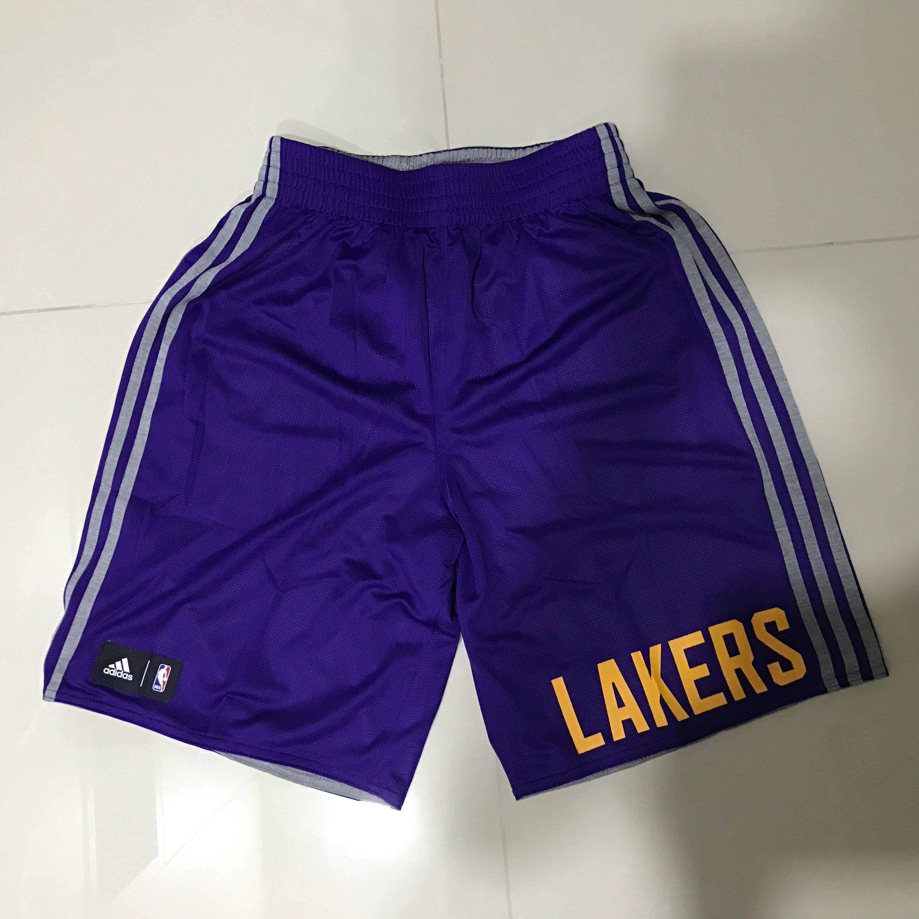 Authentic BN Adidas NBA LA Lakers Reversible Basketball Shorts Size ... 2fa3bfa7c