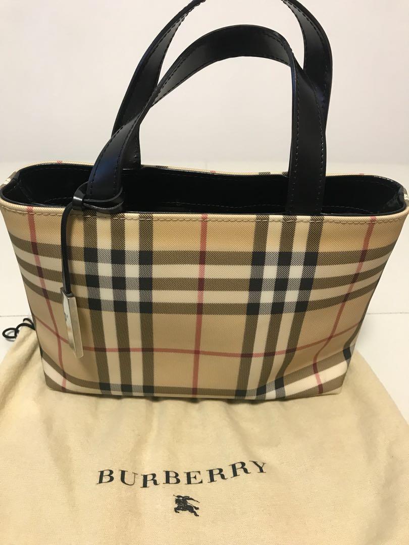 Authentic Burberry Novacheck Small Handbag Purse
