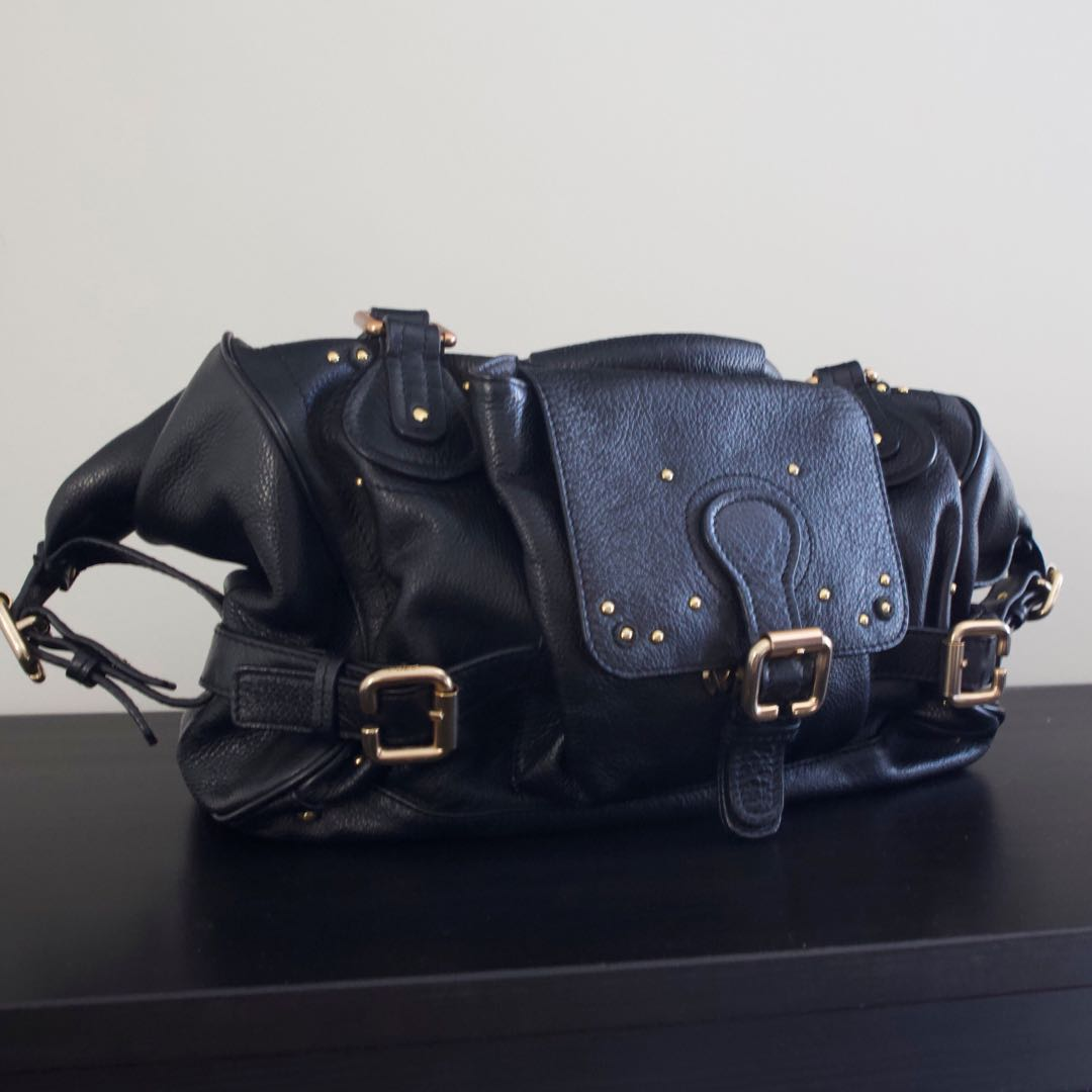 Authentic Chloé padding ton bag in black