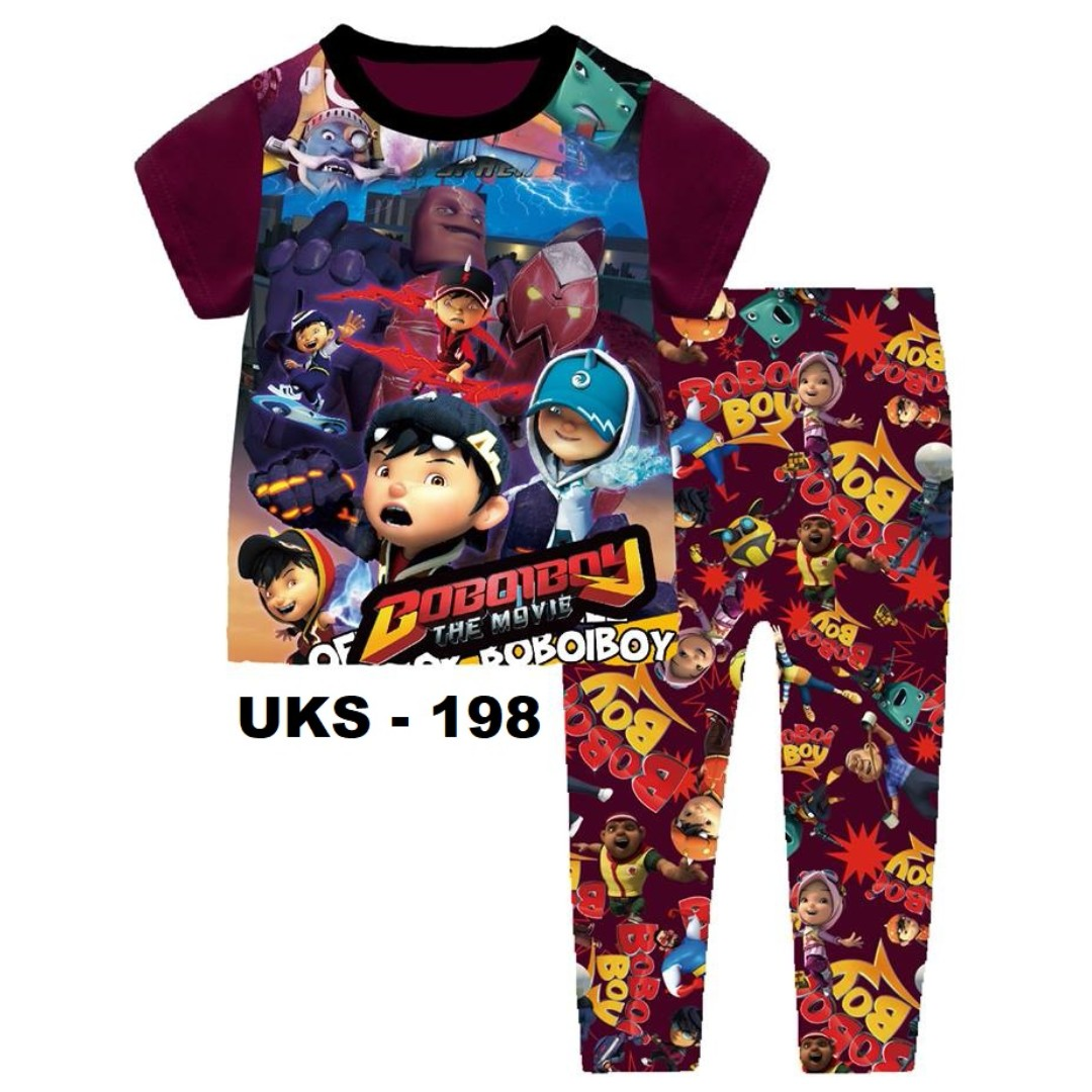 Boboiboy The Movie Short Sleeve Pyjamas For 2 Yrs To 7 Yrs Babies