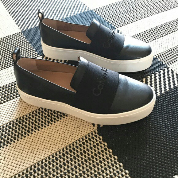 Calvin Klein slip on shoes