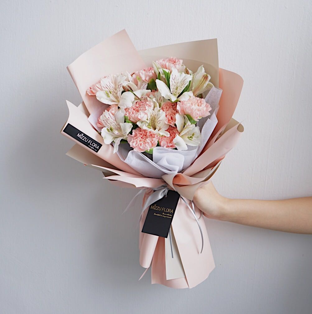 Carnation Bouquet Mother S Day Flower Gift Women S Fashion Accessories On Carousell