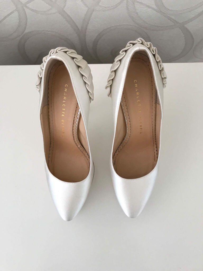 Charlotte Olympia Paloma White Shoes