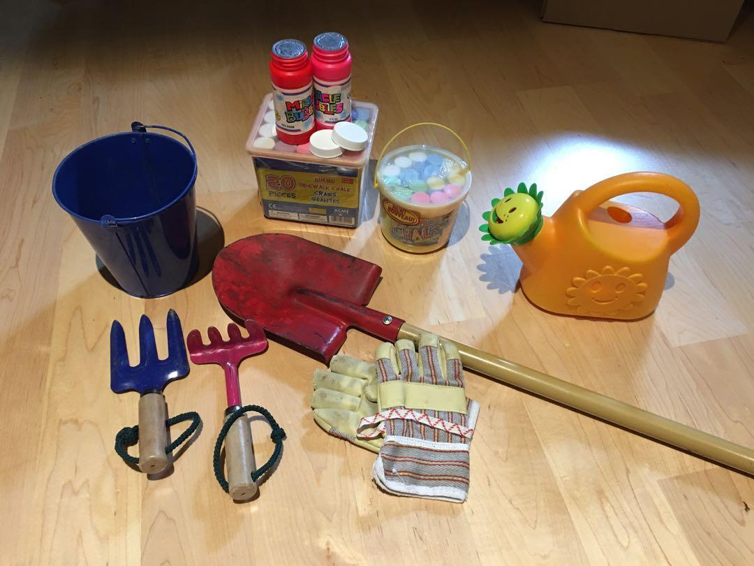 Children's gardening tools and outdoor fun