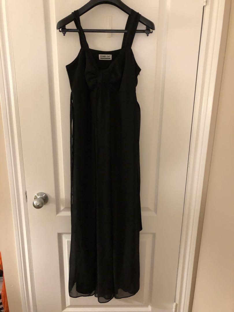 Cute black maxi dress
