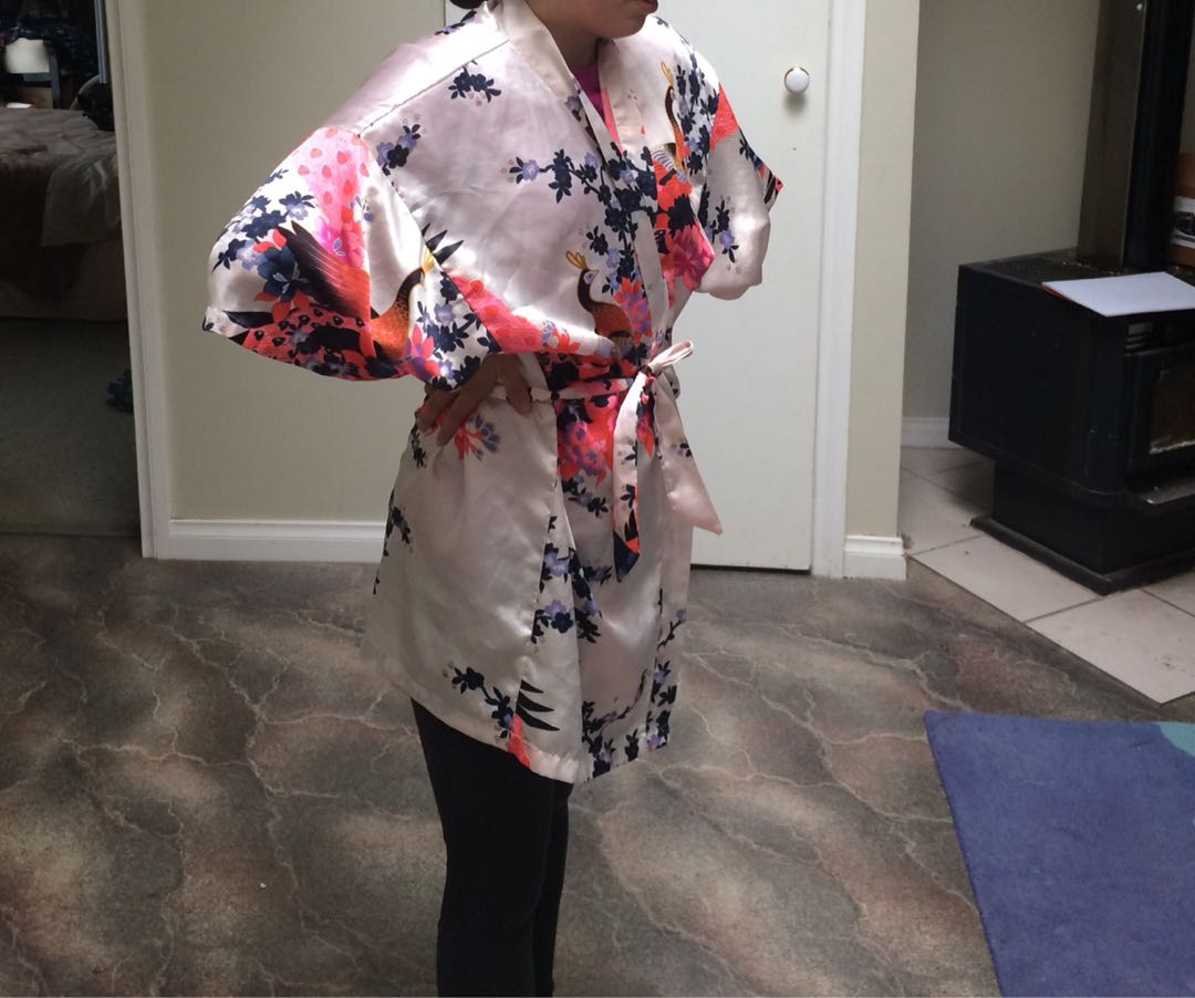 Cute silk robe!