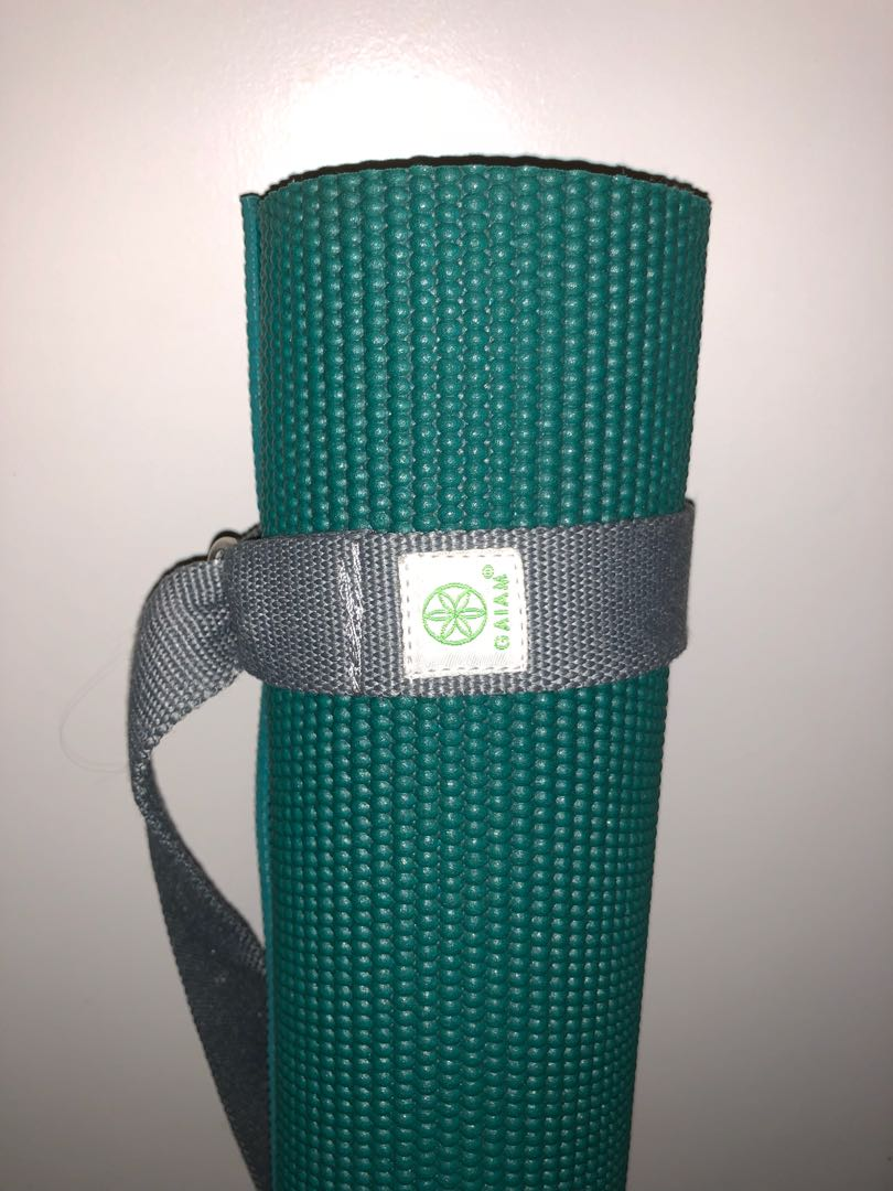 Gaiam yoga mat and strap