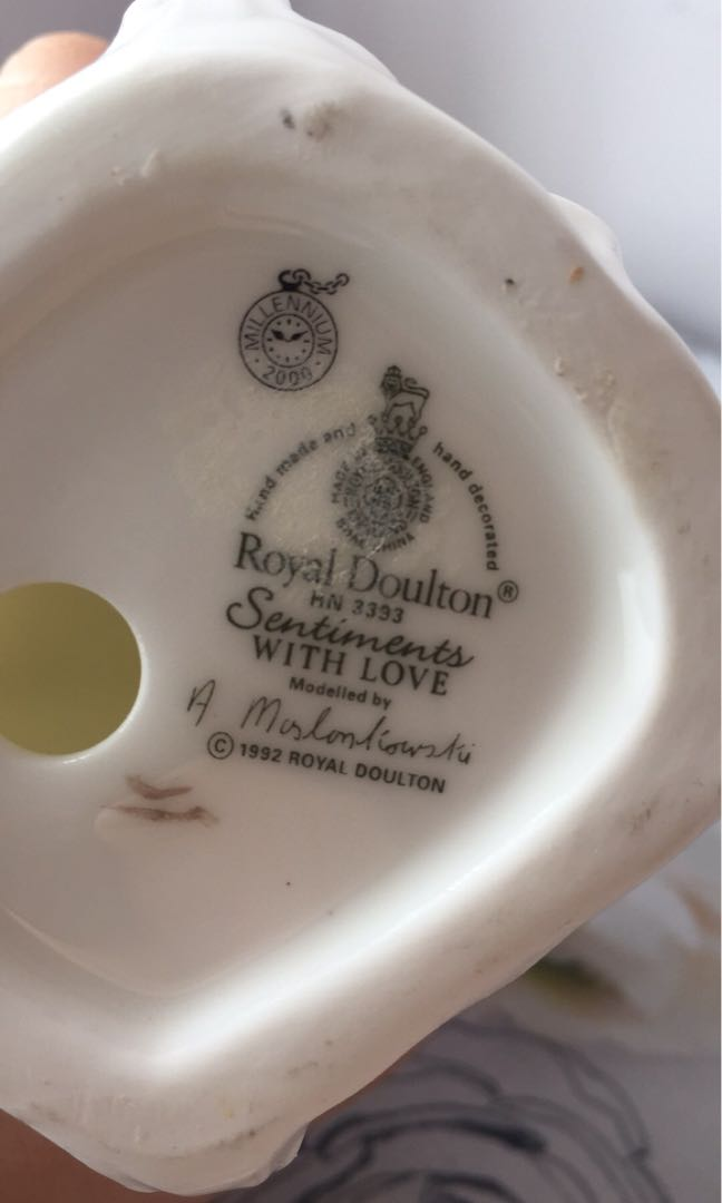 """Genuine Royal Doulton Sentiments """"With Love"""" Figurine"""