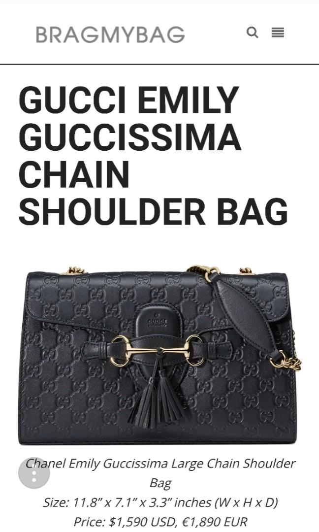 Gucci Guccisima Emily Shoulder Purse