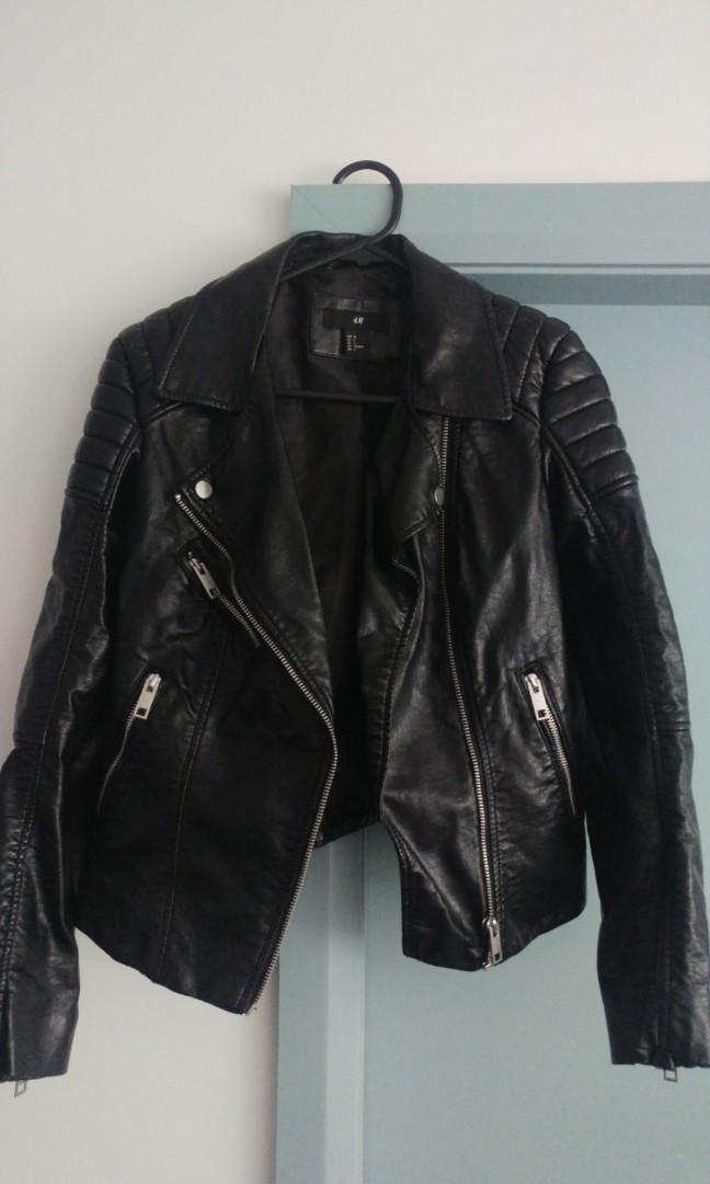 H&M ladies leather look jacket