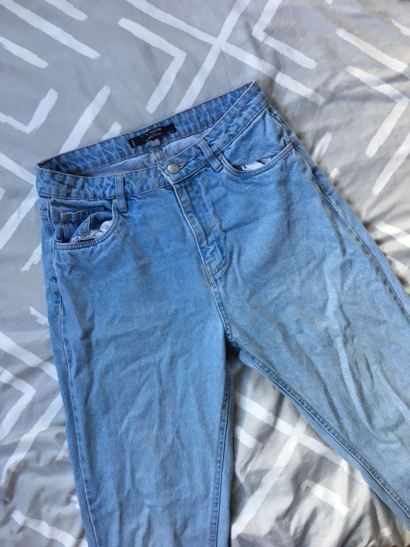 Light blue high waisted jeans