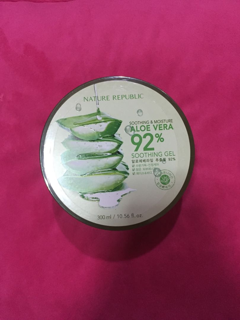 Nature Republic Aloe Vera Soothing Gel Preloved Health Beauty Jar 300 Ml Photo