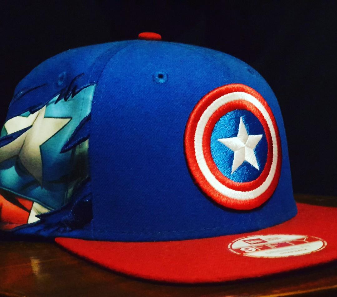 pretty nice 663a4 49e12 New Era Marvel Captain America, Men s Fashion, Accessories, Caps   Hats on  Carousell