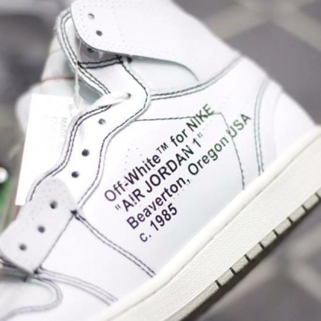 Nike Air Jordan 1 x Off White 'White', Men's Fashion, Footwear on Carousell