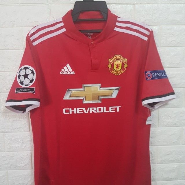 Player version Manchester United Champions League Jersey f8d86467b