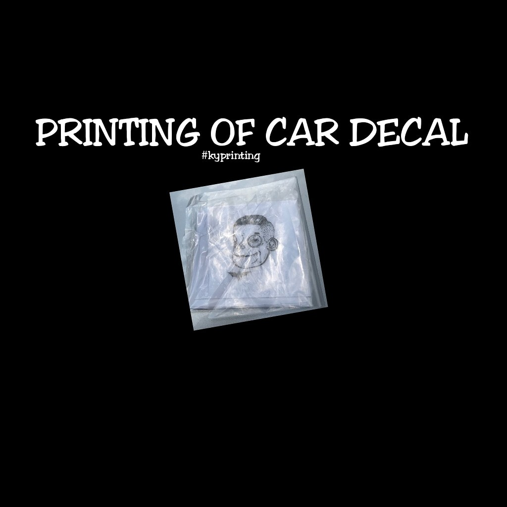 Printing services car decal bulletin board looking for on carousell