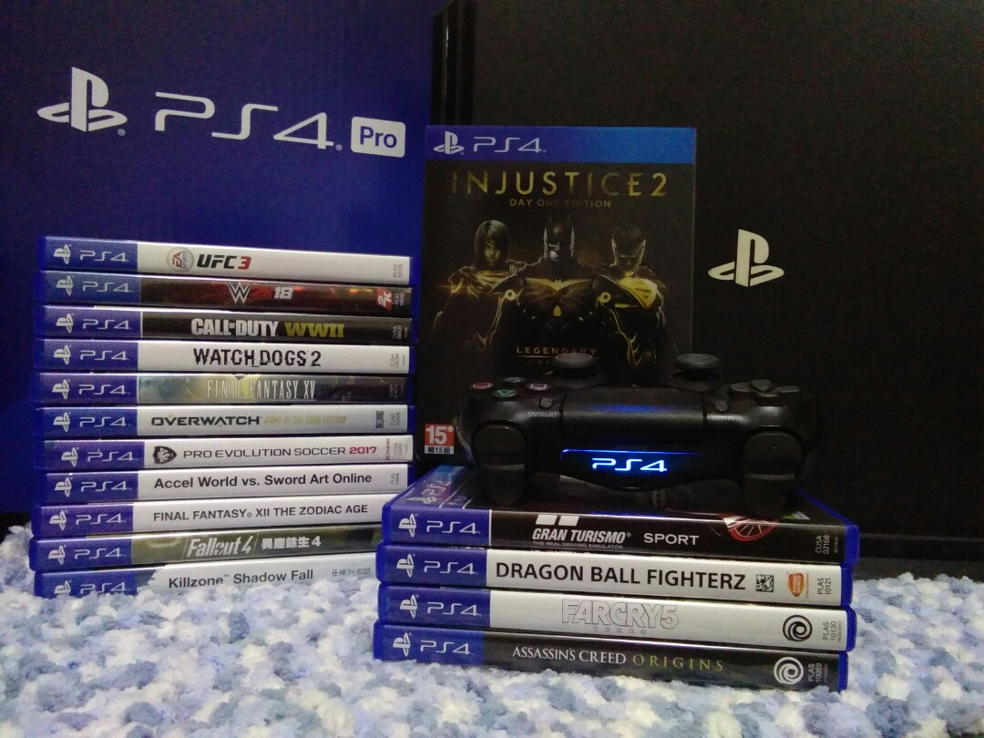 Promo ps4 pro with games📣📣📣📣