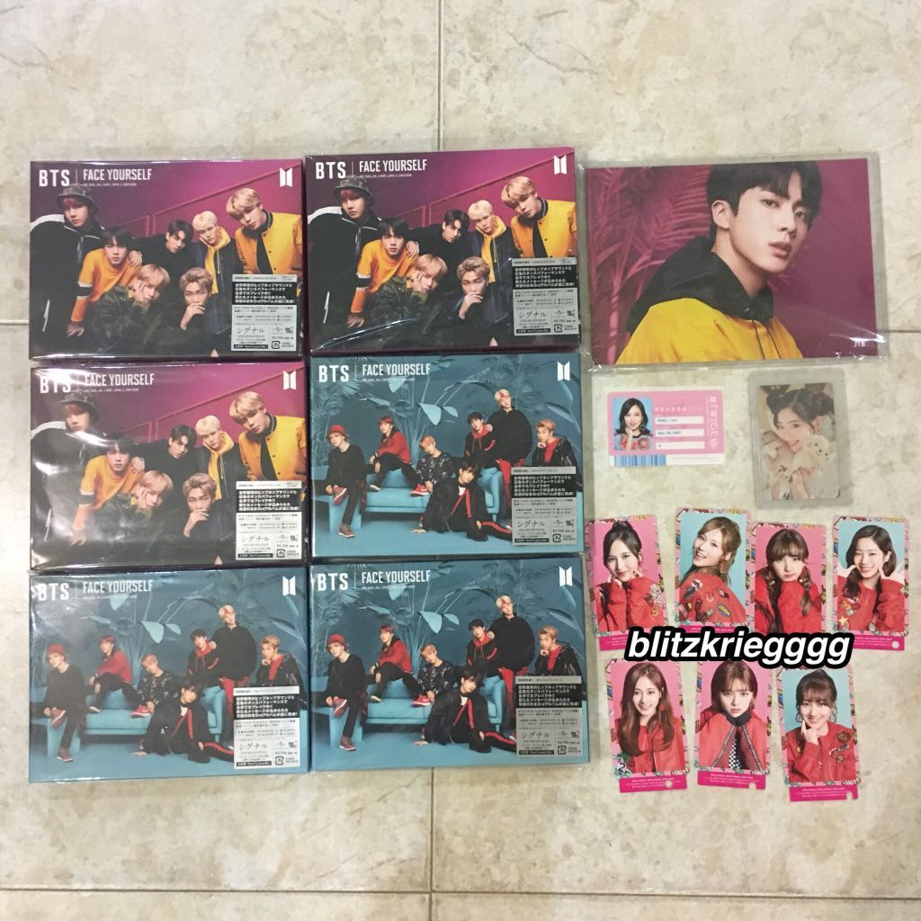 proof of arrival bts face yourself albums twice candy pop photocards twice id twice candy pop comic  1524141195 a9f983e6
