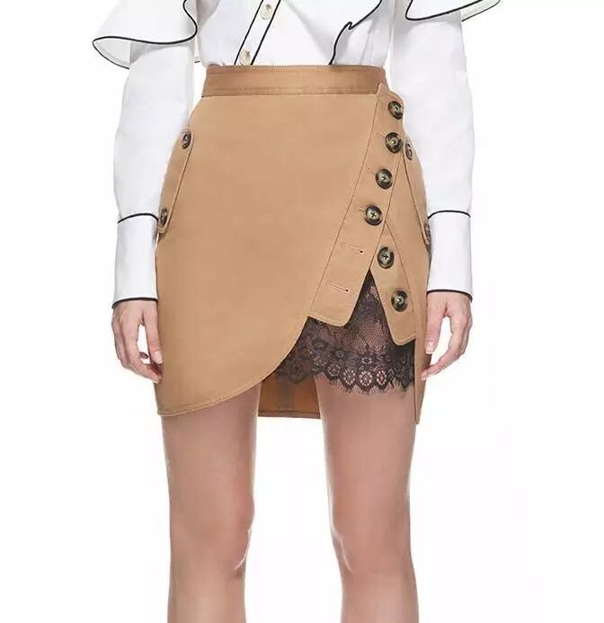 Self portrait trench mini skirt beige