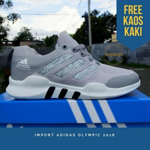 Sepatu kets running sport adidas olympic2018 343702238e