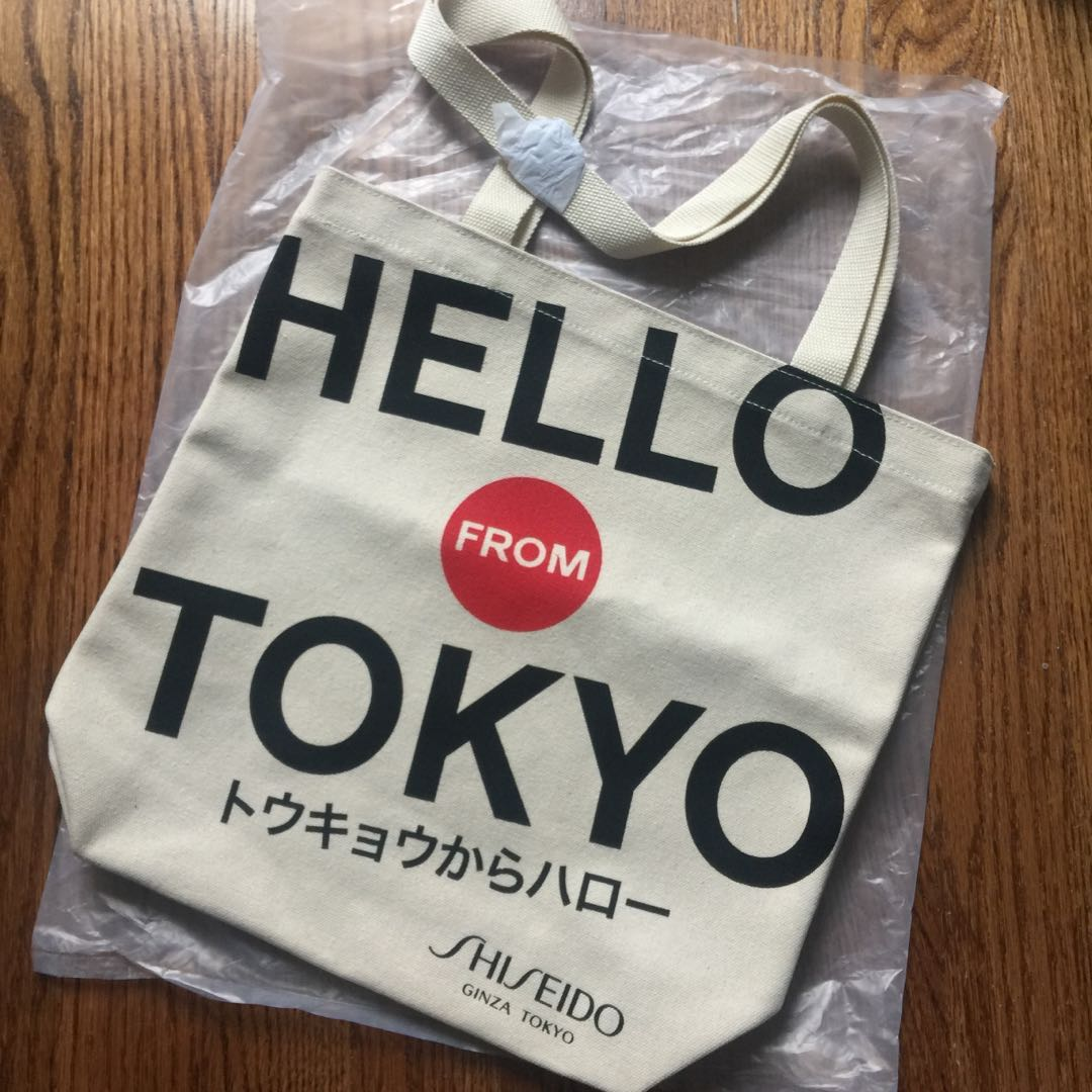 "Shiseido ""Hello from Tokyo"" Canvas Tote Bag"