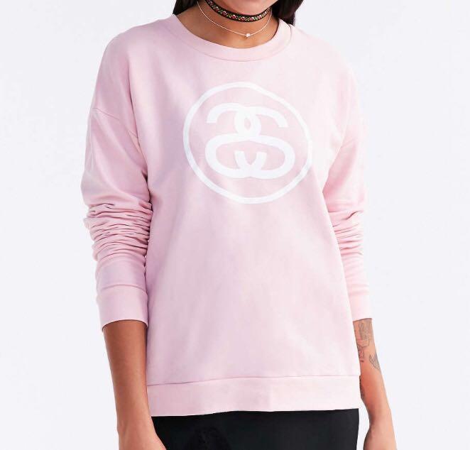Stussy Logo Pink Sweatshirt