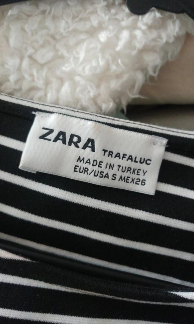 Zara navy and white striped dress