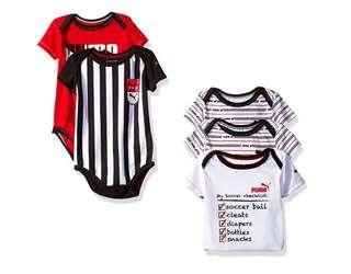 *9M* BN Puma 5 Pack Bodysuits For Baby Boy