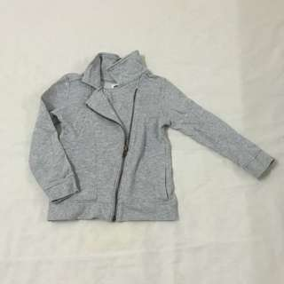Grey Girls Bikers Jacket