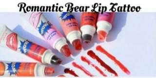 Romantic Bear Lip Tattoo
