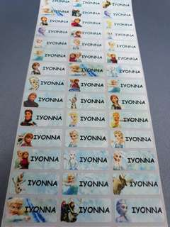 Name Stickers for Books