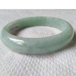 豆綠56正圈手鐲(天然A貨翡翠)---BG-180306