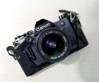 CANON AE-1 底片單眼 古董相機 附鏡頭 FD.35-70mm F1.4 附皮套 送閃燈
