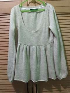 Sweater babydoll gold
