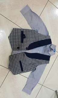 Long sleeve shirt + vest for 2 years old boy