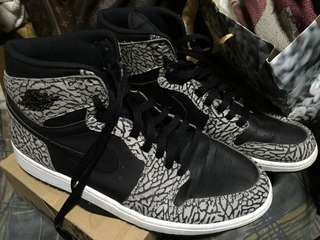 Air Jordan 1 High Unsupreme Black Cement