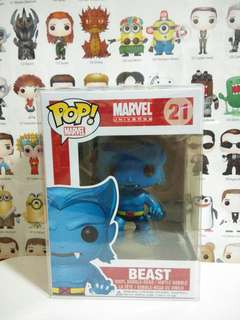 Funko Pop Beast Marvel Vinyl Figure Collectible Toy Gift Comic Vaulted