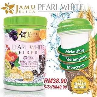 PEARL WHITE FIBER JAMU JELITA