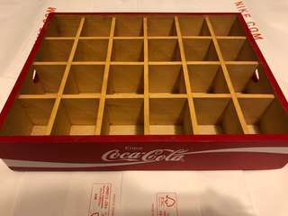 Coca Cola wooden box for mini bottle display 13.5 x 11""