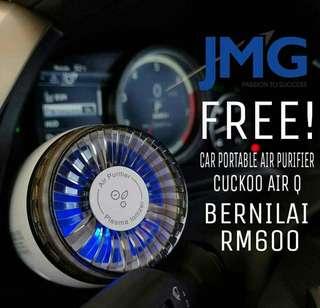 FREE! CAR AIR PURIFIER BERNILAI RM600!