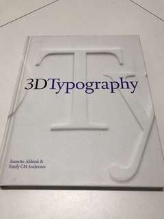 (Hardcover) 3D Typography Book