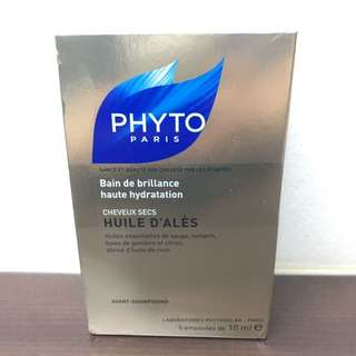 Phyto Pre-Shampoo Intense Hydrating Oil Treatment Huile D'Ales